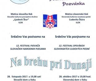 12. festival pjevača slovačkih narodnih pjesama Na brehu pri Dunaji