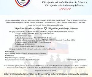 130. výročie osady Jelisavec a príchodu Slovákov do Jelisavca