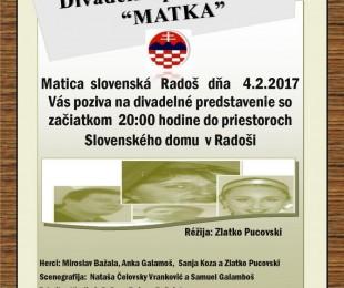 MS Radoš: Divadelné predstavenie : Matka