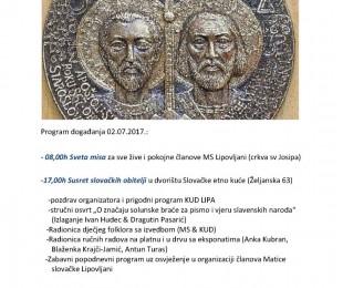 MS Lipovljani: Oslava sviatku sv.Cyrila a Metoda