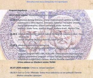 Oslava sviatku sv. Cyrila a Metoda - Stretnutie slovenských rodín
