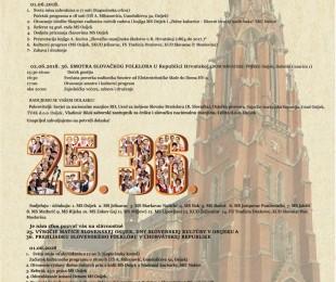Dni slovenskej kultúry v Osijeku - 25. výročie MS v Osijeku a 36. prehliadka slovenského folklóru v ChR