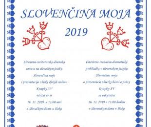 Slovenčina moja 2019