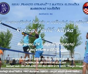 MS Markovac: 4. Memorijalni turnir u odbojci na pijesku 2017.